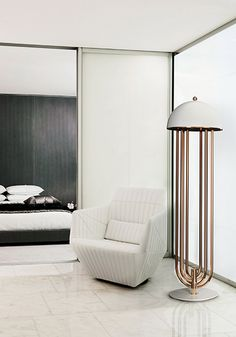 #floorlamps Turner modern floor corner lamp with rotating arms | Delightfull - The best of floor lamps - examples of floor lights fixtures you can use to decorate your house in a vintage or a more midcentury modern style. wwww.delightfull.eu