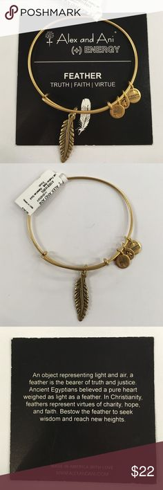 Alex & Ani Feather Authentic and brand new with tags and meaning card! Alex & Ani Jewelry Bracelets
