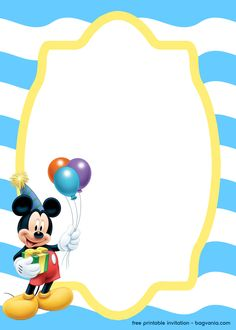 FREE Splish Splash Mickey Mouse for Boy invitation template – Bagvania 1st Birthday Invitation Template, Invitation Maker, Printable Invitation Templates, Templates Printable Free, Mickey Mouse Birthday Invitations, Minnie Mouse 1st Birthday, Mickey Mouse Template, Christmas Gift Certificate Template, Happy Birthday Png