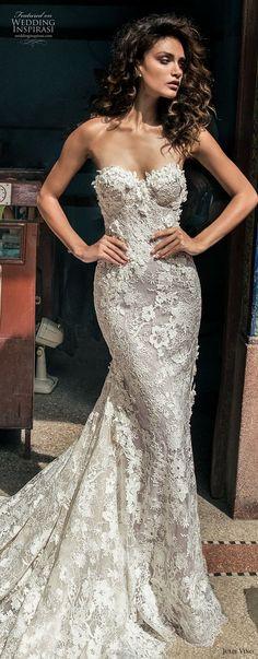 julie vino fall 2018 havana strapless sweetheart neckline full embellishment elegant sexy fit and flare wedding dress royal train (12) lv