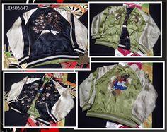 SUKAJAN Reversible rayon jacket ( japanese L ) Souvenir bomber Carp FUJI Pinball…