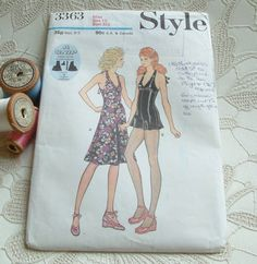 Vintage Sewing Pattern 1970's Style pant dress by PaintedSongbird