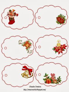 PARA IMPRIMIR: Stickers para regalos de Navidad