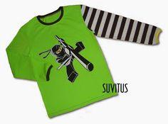 Appliqued Black Ninjago shirt by Suvitus