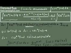 Integral de cosecante a la n (fórmula de recurrencia)