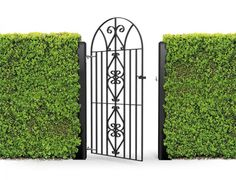 details about wrought iron style metal gate windsor bow top 1890mm x 815mm garden gates