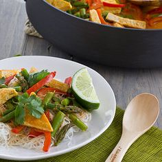 Thai Red Curry with Asparagus and Tofu — Punchfork