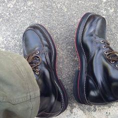 <今日の1足>RedWing 9874 福禄寿カスタム 白のステッチ、2色の黒のダブルソール、そして赤色の靴底。 絶妙な色の配分ですね。 #redwing #レッドウイング http://doublesole.com/shoes/275
