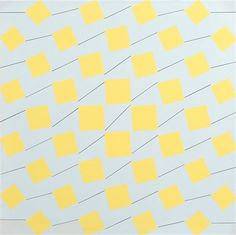 1976 acrylic on canvas Yellow squares by Matti Kujasalo