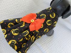 Owl Halloween Dog Dress Custom Made Limited by graciespawprints on Etsy