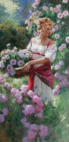 Dear Joyce, I chose this beautiful painting by Richard S. Johnson for you and I hope you'll like it as much as I. A big hug, sweet lady! Carmen xoxo