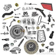 Car Spare Parts Automobile Industry Lights Peugeot Volvo