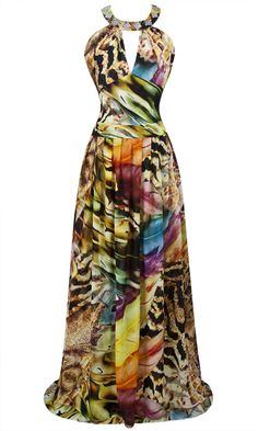 2014 New Colorful Printed Beaded Hollow Out Ruffled Long Evening/ Party Dress For more details of the dress, please check the following link: http://www.dhgate.com/store/product/colorful-printed-beaded-hollow-out-ruffled/193169671.html