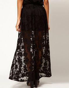 ASOS Maxi Skirt In Floral Lace at asos.com