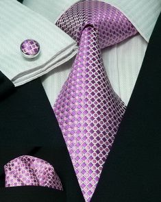 24F Bacrelli Purple Dot Silk Tie Set « Silk Ties | Wedding Ties | Wedding Sets