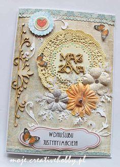 Kolejna propozycja na oryginalną kartkę z okazji ślubu. Jak Wam się podoba? :)