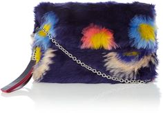 Paul Smith Pow faux fur crossbody clutch bag