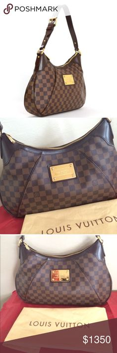 8eb395a53c7e LOUIS VUITTON THAMES GM THAMES GM SHOULDER BAG. 100% Authentic.. Purchased  here. I never used it myself changed my mind and bought another one.