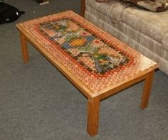 Mosaic up-cycled coffee table