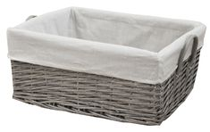 Our grey wash wicker storage baskets are handmade from willow and are available in three sizes to suit any space in your home. Lined Wicker Baskets, Wicker Baskets With Handles, Rattan Basket, Storage Baskets With Lids, Grey Wash, Bathroom Storage, Leather Handle, Storage Solutions, Organize