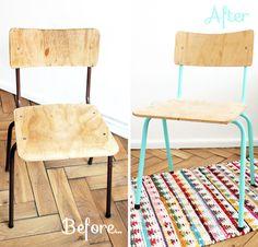 mumu zuzu: DIY :: Relooker une chaise en bois et métal