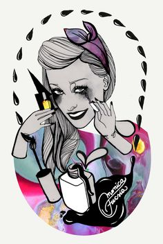 POPNAILS ! on Behance #illustration