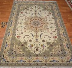 6'x9' Hand-knotted Wool n Silk Oriental Persian Tabriz Area Rug ~New41