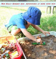 Mud sensory bin- Rain, Rain, Come and Play: Backyard Adventures for the Wet Season - ParentMap