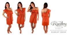 Scarlet Dress- we should get these for recruitment! They will put our sorority name on them, unique and memorable!