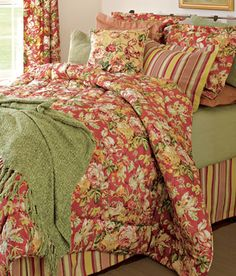 i love the colors in this bedding set! rose tree shenandoah