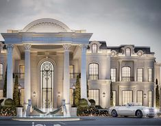 Modern Villa Design, Classic House Design, Design Your Dream House, Neoclassical Interior, Neoclassical Architecture, Interior Design Dubai, Interior Design Companies, Facade Design, Architecture Design