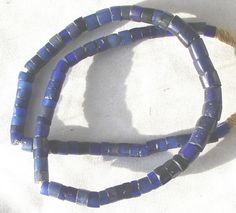 https://flic.kr/p/7kVXwA   RU123d120     Russian Blues: prized by African and the Native Americans on the Columbia River in the Pacific Northwest, these cobalt-colored blue glass beads can be either smooth or faceted. These beads are prized for their color and stunning appearance, excellent examples of Bohemian faceted glass.  The name Russian has nothing to due with the county the drawn 5 0r 6 sided cane is faceted on each corner to give the distinctive look, cobalt blue was the most ...
