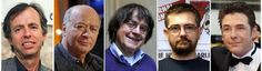 A combination of file photos made on January 7, 2015 shows (from L) French satirical weekly Charlie Hebdo's deputy chief editor Bernard Maris and cartoonists Georges Wolinski, Jean Cabut, aka Cabu, Charb and Tignous. At least 12 people were killed, including cartoonists Charb, WolinsKi, Cabu and Tignous and deputy chief editor Bernard Maris when gunmen armed with Kalashnikovs and a rocket-launcher opened fire in the Paris offices of French satirical weekly Charlie Hebdo. Photo: AFP