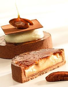 Callebaut - Tartelletta alle noci pecan con crema chantilly