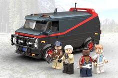 Cool Lego, Cool Toys, A Team Van, Lego Kits, Lego Modular, Lego Construction, Man Cave Home Bar, Popular Tv Series, Lego Design