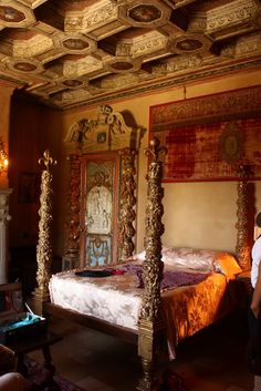Another bedroom at Hearst castle