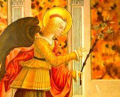 Benedetto Bonfigli - Annunciazione, dettaglio - 1455-1460 - Galleria Nazionale dell'Umbria, Perugia-
