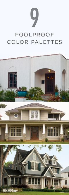 A neutral color palette can be just what your home needs to boost its curb appeal this summer. Try BEHR paint in Cottage White and Divine Wine on a contemporary style home for a simple new look.