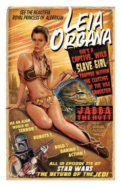 Leia Organa vintage styled poster.