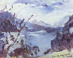 The Walchensee With Mountain Range And Shore 1925 Art Print by Corinth Lovis. All prints are professionally printed, packaged, and shipped within 3 - 4 business days. Post Impressionism, Mountain Paintings, Art Database, Mountain Range, Art Google, Art And Architecture, Great Artists, Illustration Art, Art Prints
