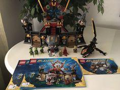 Lego Atlantis Sets 8058 Guardian of the Deep & 8078 Portal of Atlantis EUC #LEGO