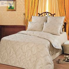 Comforter Camel wool ALL SEASONAL, UPPER MATERIAL -100% COTTON