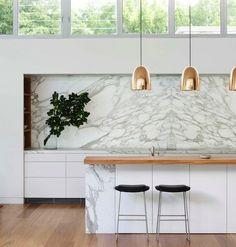 marble kitchen splashback feature