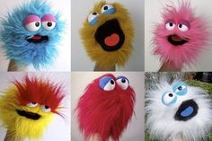 """""""Build your own Muppet"""" Lab...Previous pinner: wrap a feather boa around a tube…"""