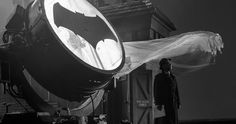 J.K. Simmons as Commissioner Gordon Revealed in Justice League -- Zack Snyder and J.K. Simmons both pose with the iconic Bat-signal on the set of Justice League in celebration of Batman Day. -- http://movieweb.com/justice-league-movie-commissioner-gordon-jk-simmons-photo/