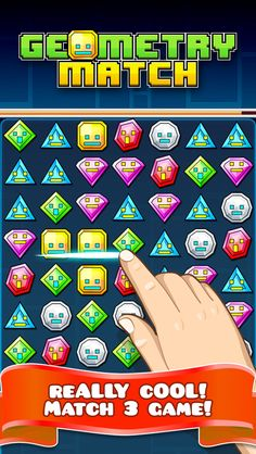 App Shopper: Geometry Match Mania - Multiplayer Friends Duel Match 3 Jewel (Games)