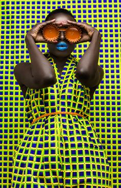 Mode Africaine, Thandiwe Muriu, quadrillé, jaune