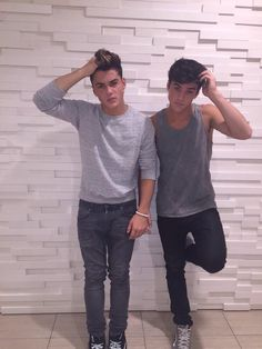 {Grayson and Ethan Dolan} hey I'm Ethan and this is Grayson! We're both 19, and single. Jaceys our sister but she won't admit it *laughs* intro??