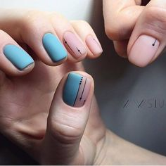 Simple Line Nail Art Designs You Need To Try Now line nail art design, minimalist nails, simple nails, stripes line nail designs Fancy Nail Art, Fancy Nails, Cute Nails, My Nails, Minimalist Nails, Minimalist Design, Square Nail Designs, Nail Art Designs, Nails Design