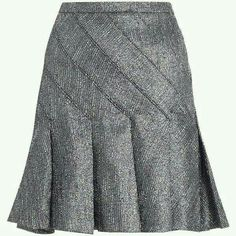 See this and similar Zimmermann knee length skirts - Tempo Flip Skirt, from our Fall 14 collection , in metallic tweed with shaped panels through hip and flip p. Skirt Outfits, Dress Skirt, Metallic Pleated Skirt, Skirt Pleated, Silver Skirt, Flippy Skirts, Latest African Fashion Dresses, Fashion Outfits, Fashion Skirts